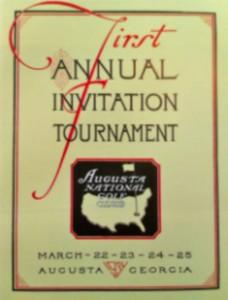 """Auf der ersten Einladung zum Turnier in Augusta war von """"Masters"""" noch keine Rede. (Foto: Michael F. Basche)"""