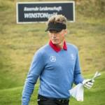"""Gewohnt akribische Vorbereitung: """"Stargast"""" Bernhard Langer auf einer Einspielrunde. (Foto: WINSTONgolf/Stefan von Stengel)"""