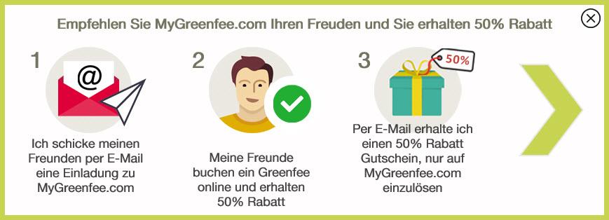 So funktioniert die Freunde-werben-Freunde-Aktion von MyGreenfee.com und Golf Post. (Foto: MyGreenfee.com)